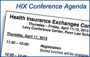 HIX conference agenda